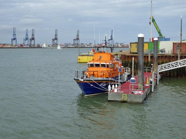 RNLB Albert Brown (17-03) at Harwich Lifeboat Station