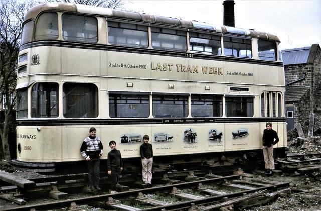 Veteran of Sheffield's LAST TRAM WEEK,  6-8 Oct 1960