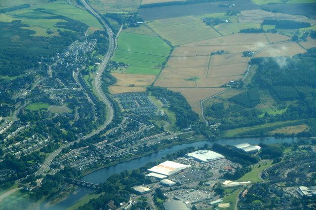 Bridge of Dee, Aberdeen, from the air