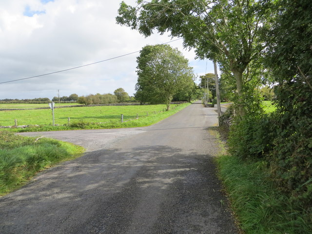 Road junction near Caran
