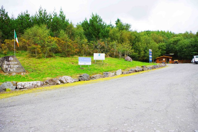 Access road and car park for Bonane Heritage Park, near Kenmare, Co. Kerry