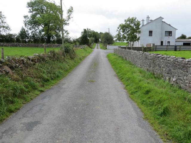 Wall enclosed lane near Carrowduff Lower