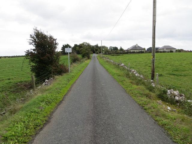 Wall and hedge enclosed lane near Peak