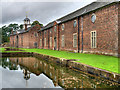 SJ7387 : Moat and Stable Block, Dunham Massey by David Dixon
