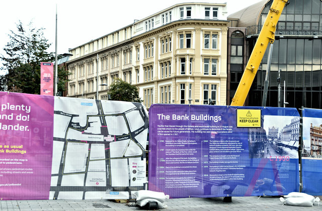 Primark (Bank Buildings) fire, Belfast - September 2018(4)