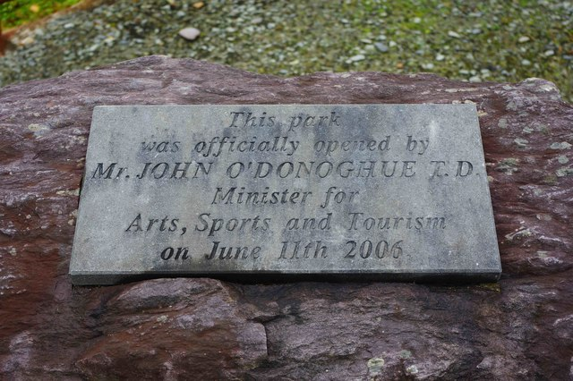 Bonane Heritage Park - dedication plaque, near Kenmare, Co. Kerry
