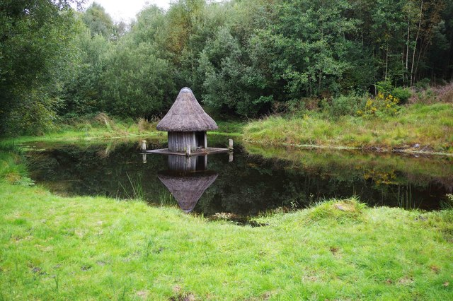 Bonane Heritage Park - reconstructed crannog (1), near Kenmare, Co. Kerry