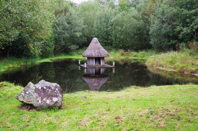 Bonane Heritage Park - reconstructed crannog (2), near Kenmare, Co. Kerry