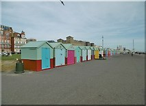 TQ2804 : Hove, beach huts by Mike Faherty