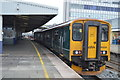 SX4755 : Tamar Valley Line train at Plymouth Station, platform 1 by N Chadwick