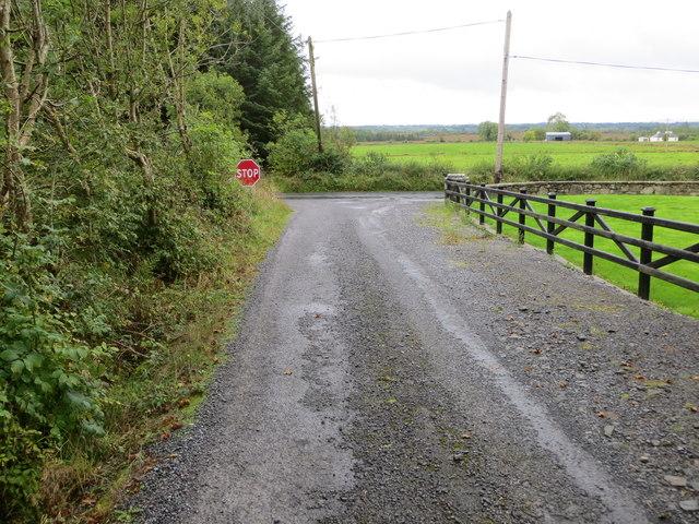 Junction of lanes near Carraghs East