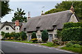 ST9832 : Thatched cottages at Teffont Magna : Week 37