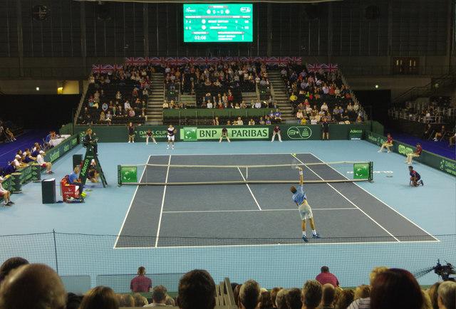 Davis Cup Action - Emirates Arena