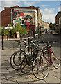 ST5774 : Mural and bikes, Cotham Hill by Derek Harper
