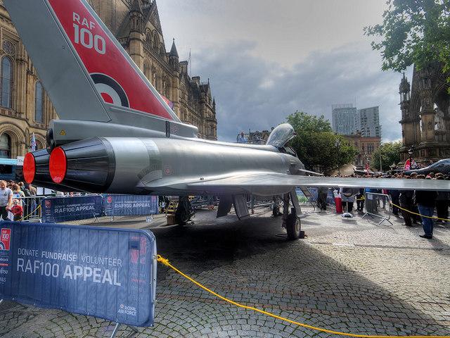 RAF100: Eurofighter Typhoon at Albert Square