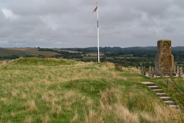 On the summit of Castle Hill, Mere