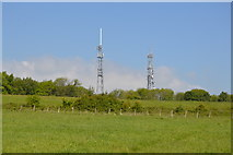 TQ6044 : Castle Hill transmitters by N Chadwick