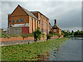 SK5704 : River Soar and Friars Mll in Leicester by Roger  Kidd