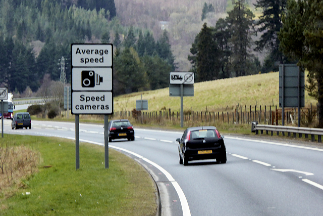 Speed Camera Warning on the A9