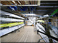 NT9952 : BARC boathouse - inside by Stephen Craven