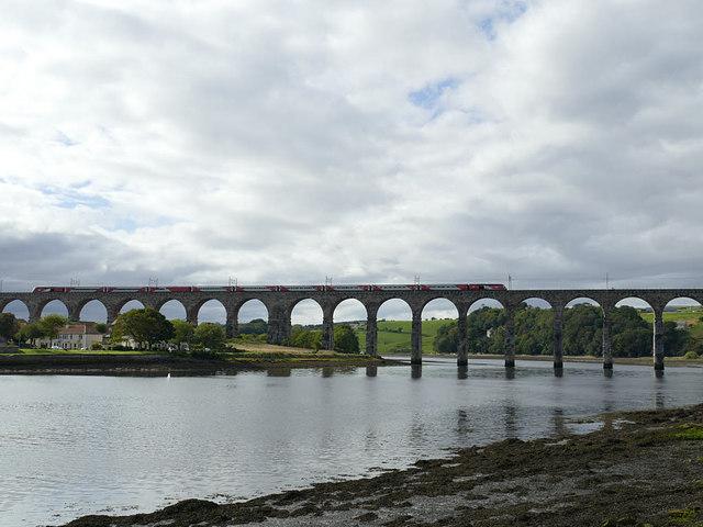 LNER train crossing the Royal Border Bridge