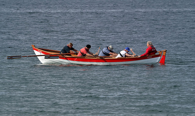 Rowing in the Cromarty Firth