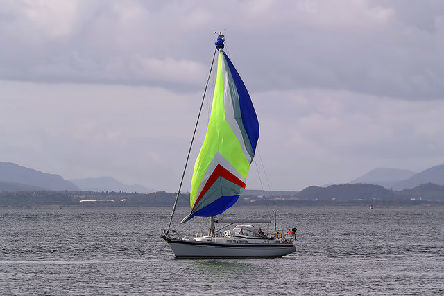 A yacht in Fortrose Bay