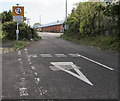 ST8552 : Give way to oncoming vehicles, Brook Lane, Westbury by Jaggery