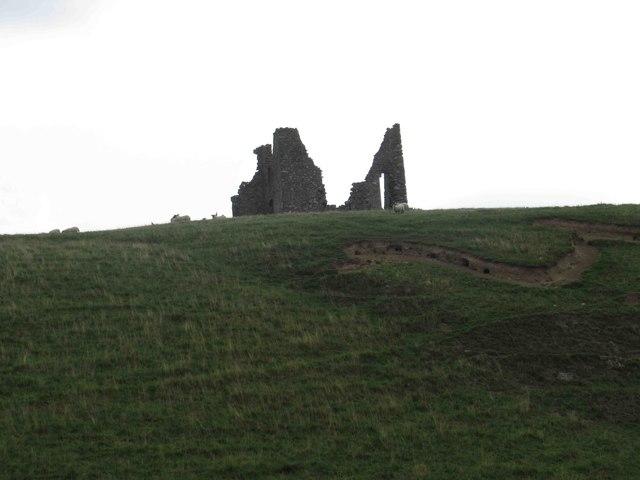 Remains of Horsbrugh Castle