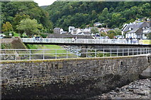 SS7249 : Wall separating Lynmouth harbour from the river by David Martin