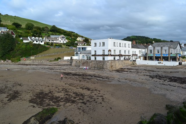 Back of the beach at Combe Martin