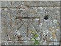 SK9415 : OS Bolt Benchmark, St. Nicholas's Church, Stretton by Stephen Armstrong