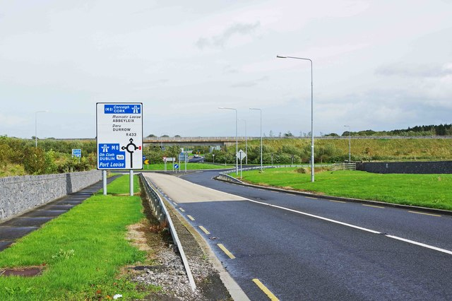 R433 road approaching junction with M8 motorway, near Clogh, Co. Laois