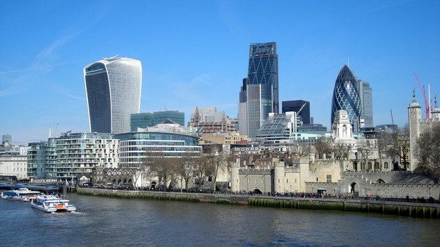 Tower of London and city skyline