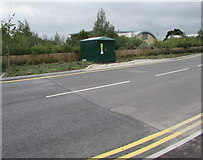 SP2031 : Aldi Store electricity substation, Moreton-in-Marsh by Jaggery