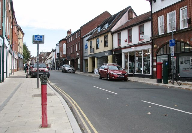 Red bollard on St Benedicts Street