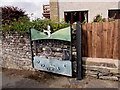 SN9668 : Parc Rhayader entrance gate, Castle Road, Rhayader by Jaggery