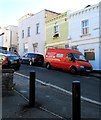 ST5974 : Red van, St Andrews Road, Montpelier, Bristol by Jaggery