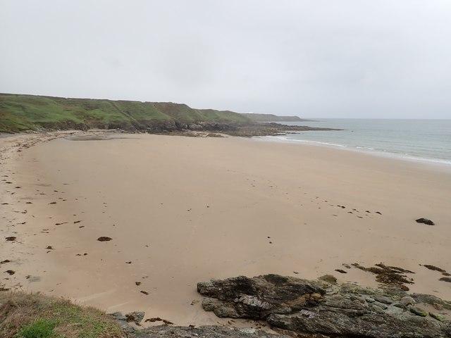 The beach at Porth Towyn