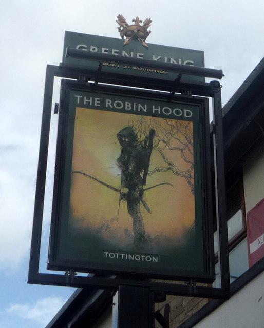 Sign for the Robin Hood public house, Tottington by JThomas