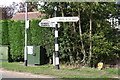 SK6230 : Signpost at Stanton Lane / Willow Brook junction by Roger Templeman