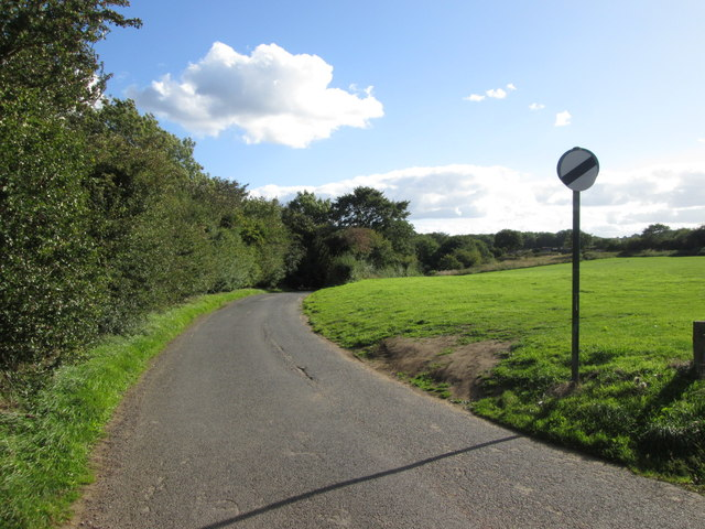 Mill Lane south of Carlin How