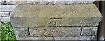 NZ3956 : Ordnance Survey Cut Mark by Adrian Dust