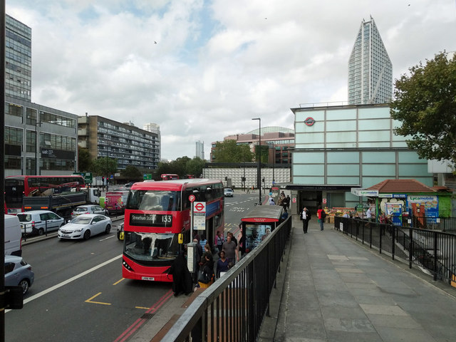 Elephant & Castle Station bus stop