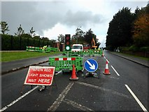 H4573 : Road works, Gortin Road, Omagh by Kenneth  Allen