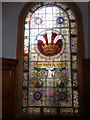 NZ2323 : Stained glass window, Redworth Hall Hotel, Redworth by pam fray