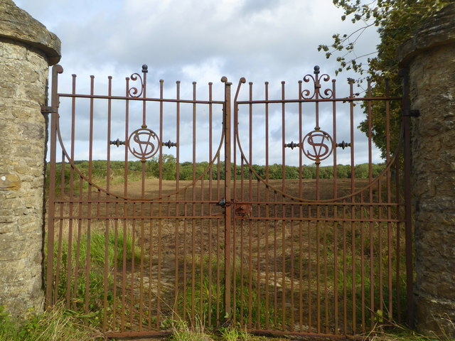 The old gates to Redworth Hall, Redworth