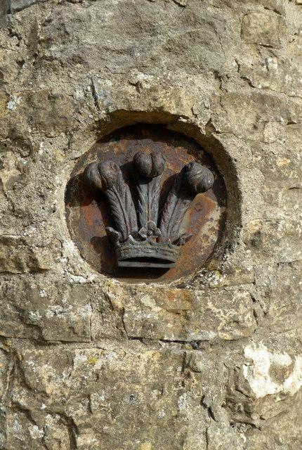 Symbol on the old gateway to Redworth Hall, Redworth