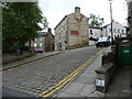 SD7917 : The north side of the market place, Ramsbottom by Christine Johnstone