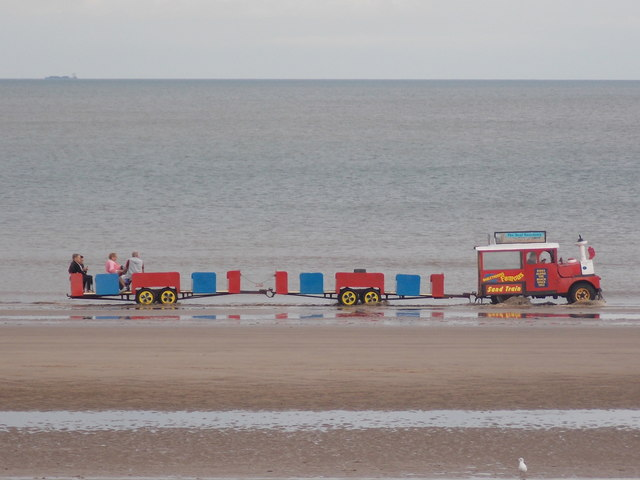 Mablethorpe: the Sand Train becomes a Sea Train!